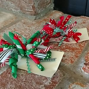 Accessories - Christmas Korker Hairbows -2